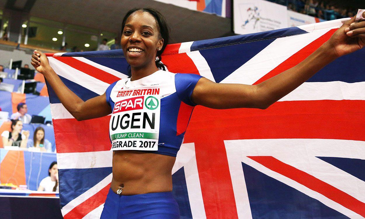 Lorraine Ugen has seven metres in her sights