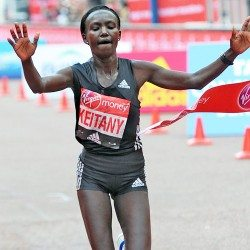 Mary Keitany breaks women-only marathon world record in London