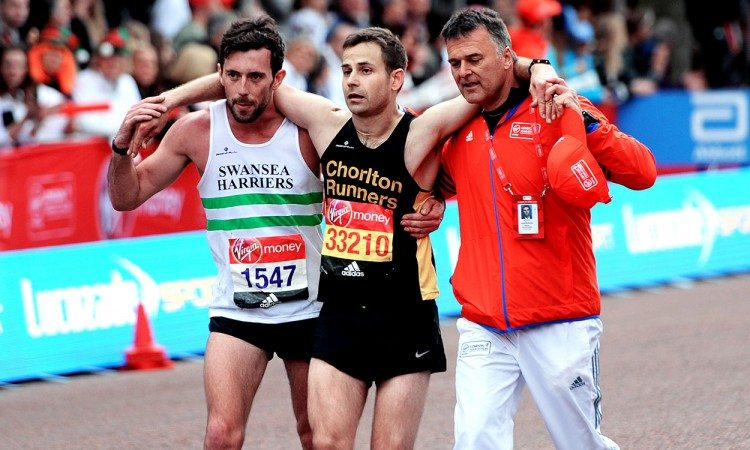Matthew Rees and David Wyeth help show spirit of running