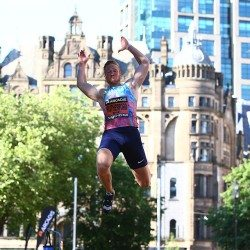 'I take my hat off to the people of Manchester', says Greg Rutherford