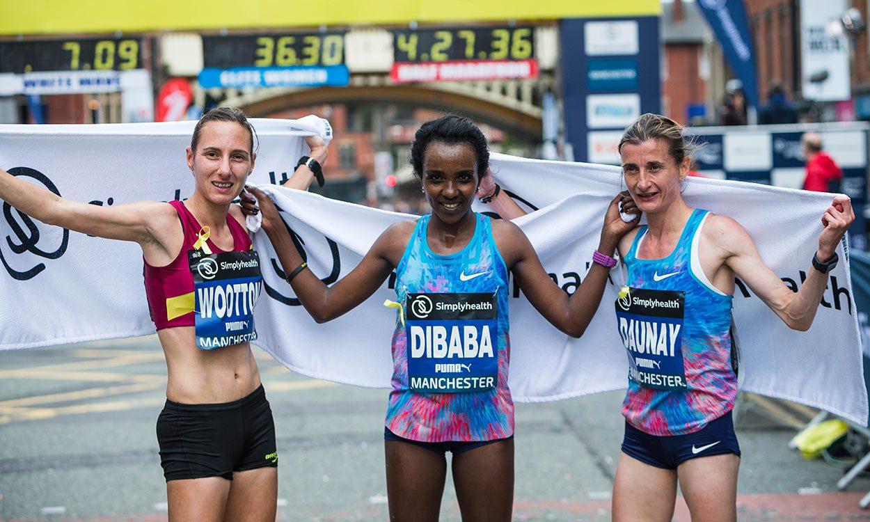 Tirunesh Dibaba and Dathan Ritzenhein win Great Manchester Run 10k