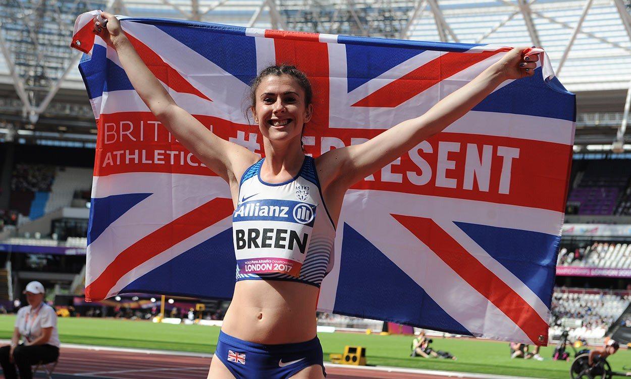 Olivia Breen leaps lifetime best for world long jump gold in London