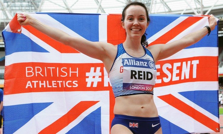 Stef Reid wins world long jump gold in London