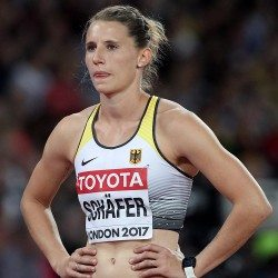 Carolin Schafer leads heptathlon after day one in London