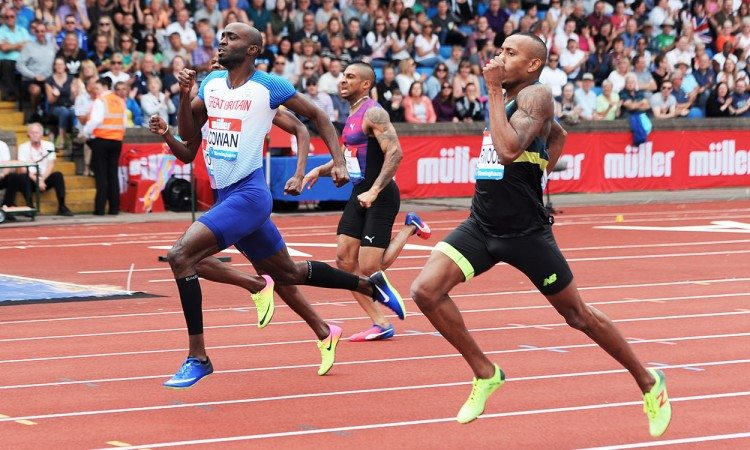 Dwayne-Cowan-Birmingham-100m-by-Mark-Shearman