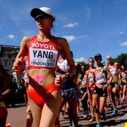 Jiayu Yang holds off speedy Gonzalez to win world 20km walk gold