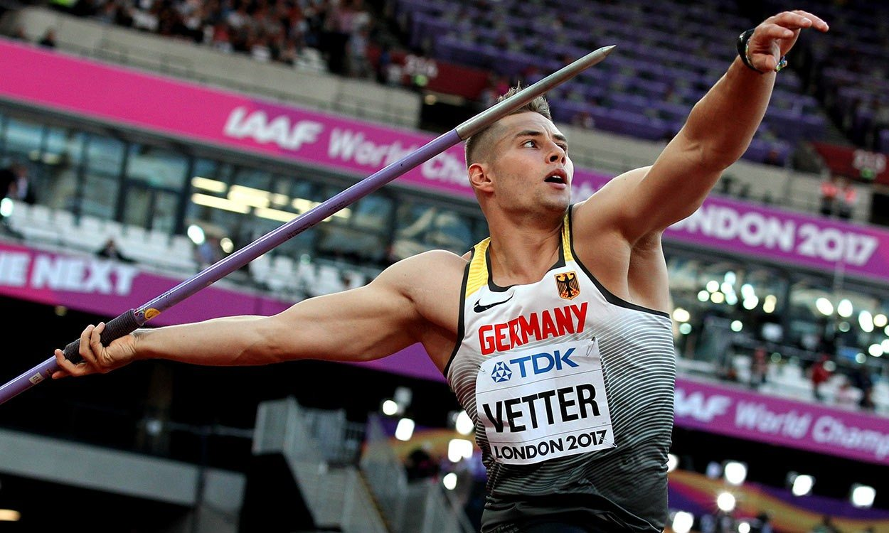 World javelin gold for Johannes Vetter in London