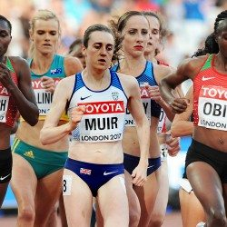 Muir, McColgan and Asher-Smith among Brits to advance in London