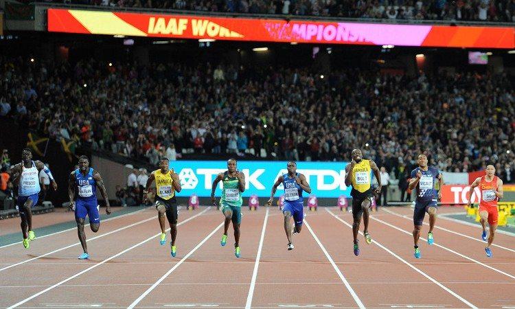 Men's-100m-London-2017-Justin-Gatlin-Usain-Bolt-by-Mark-Shearman