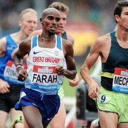 Mo Farah ends domestic track career at Müller Grand Prix