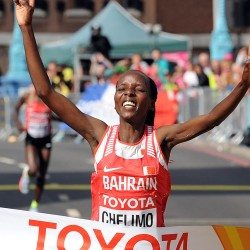 Rose Chelimo takes marathon gold as Aly Dixon wins the crowd in London