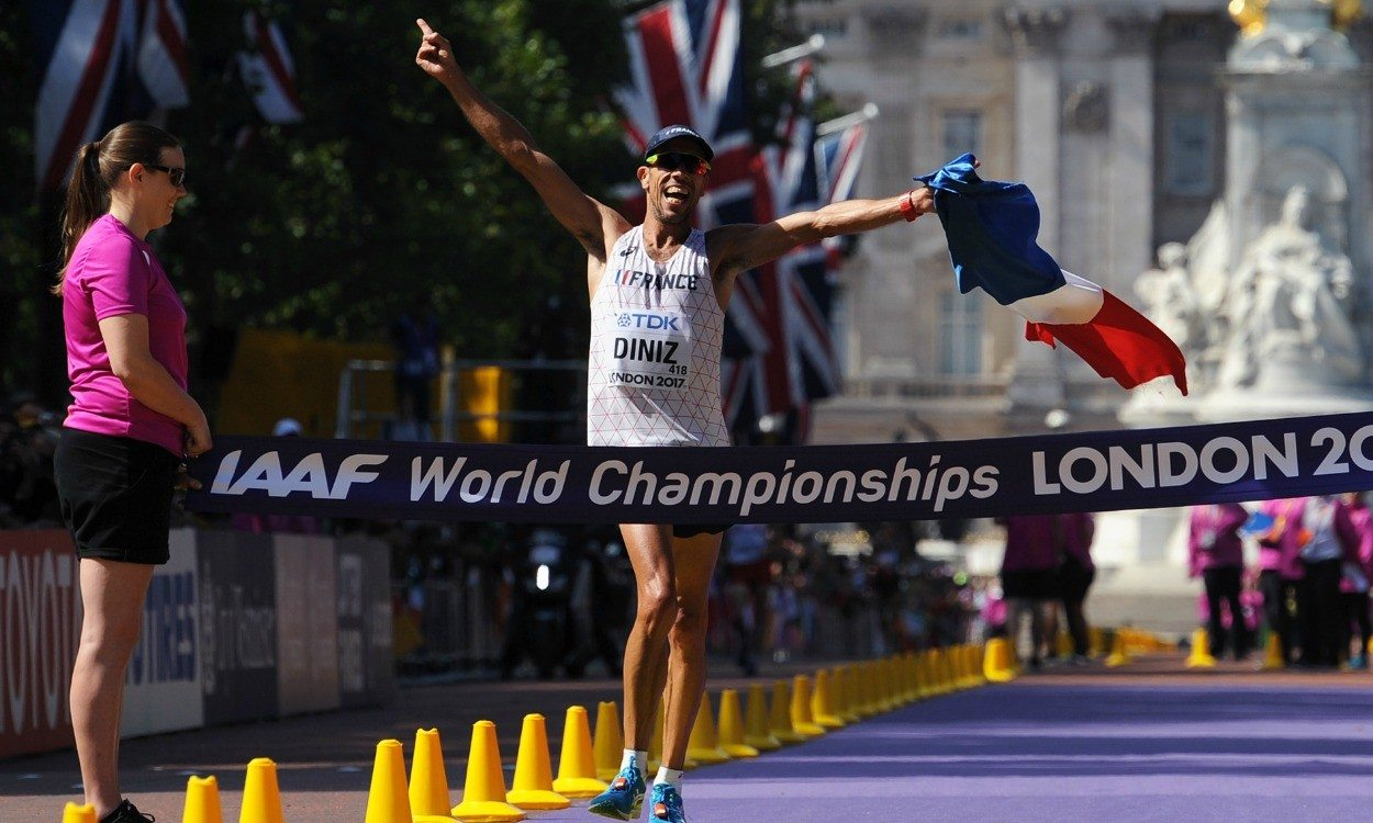Yohann Diniz dominates 50km race walk in London