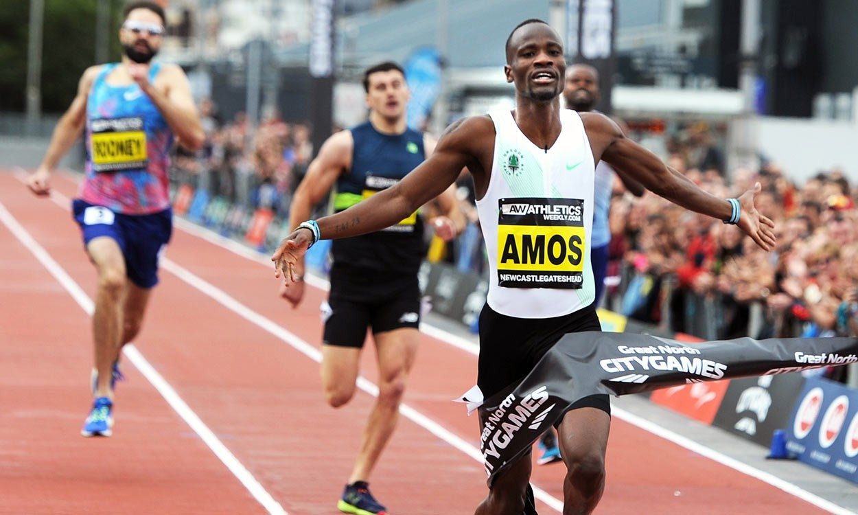 Nijel Amos rises to the Great North CityGames occasion