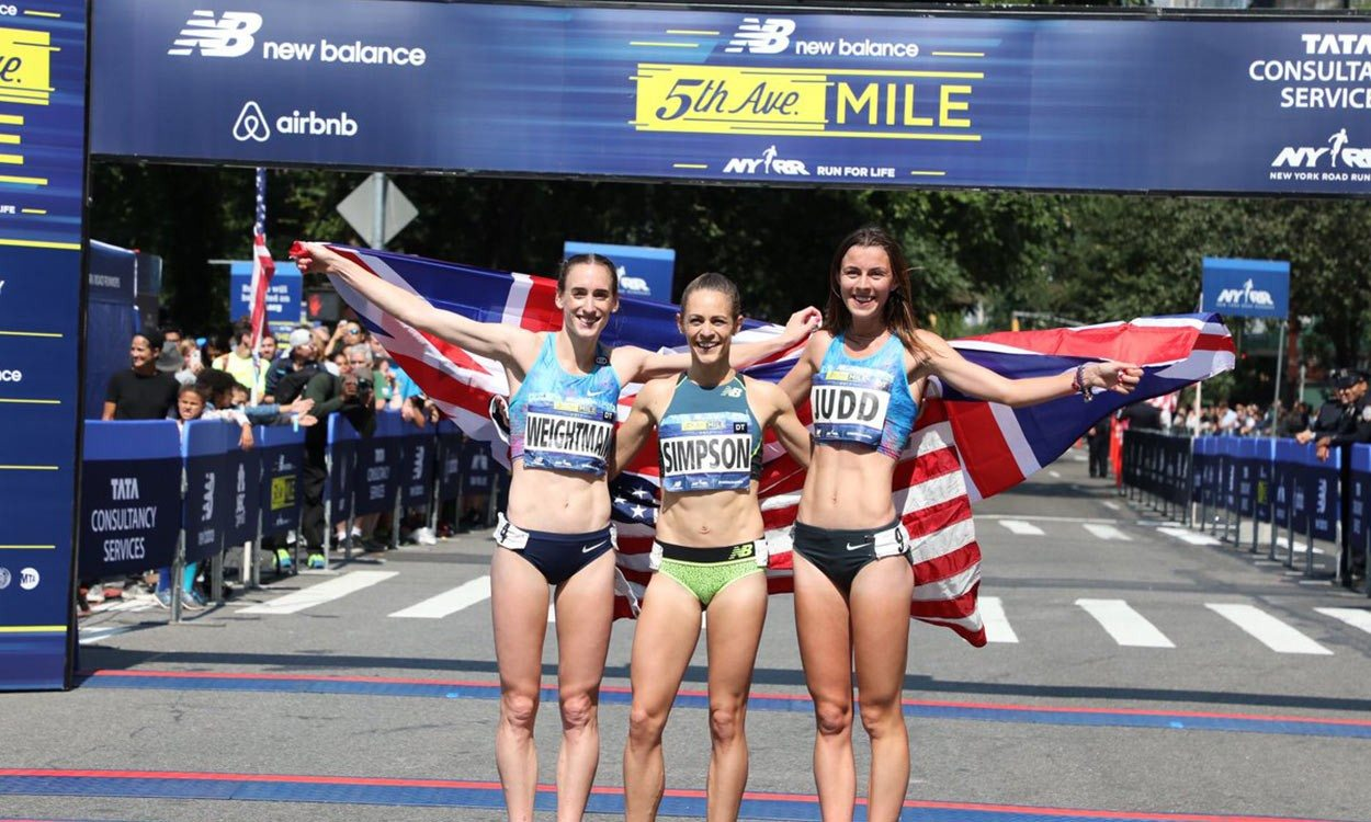 Jenny Simpson wins and Laura Weightman‏ runs British road mile best in New York