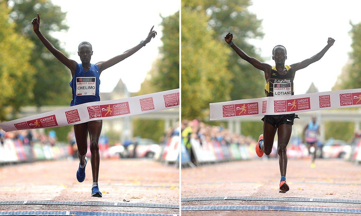 Edith Chelimo and John Lotiang break records at Cardiff Half Marathon
