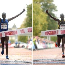 Edith Chelimo and John Lotiang break records at Cardiff Half Marathon