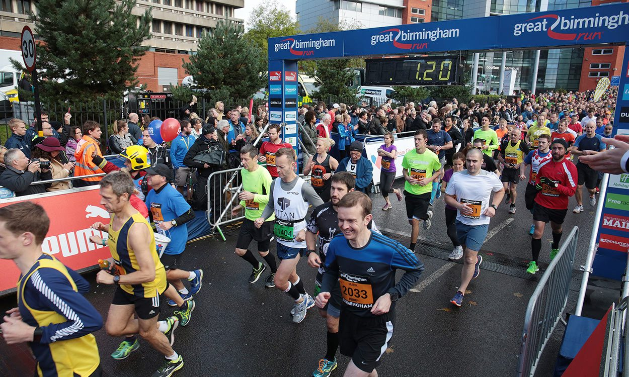 Runners Birmingham bound for Great Run events