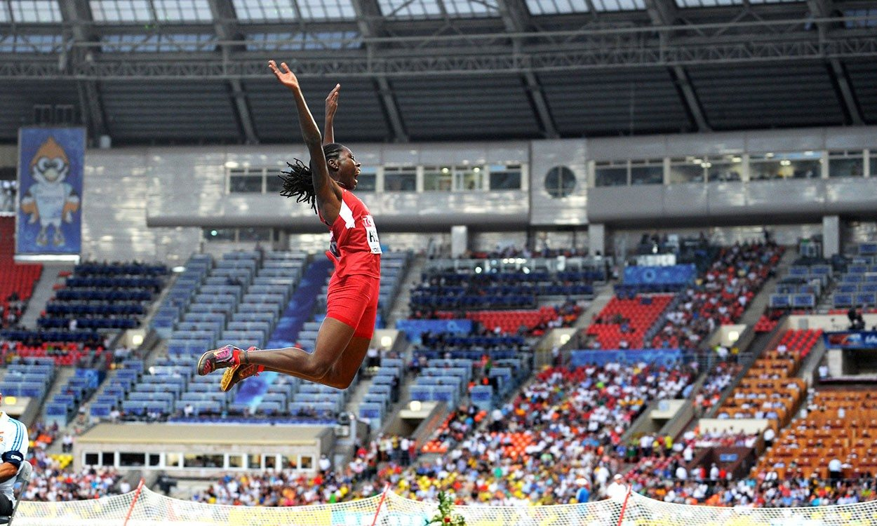 Brittney Reese, the long jump queen