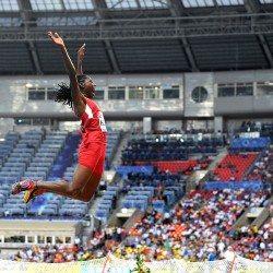 Brittney Reese, the long jump queen