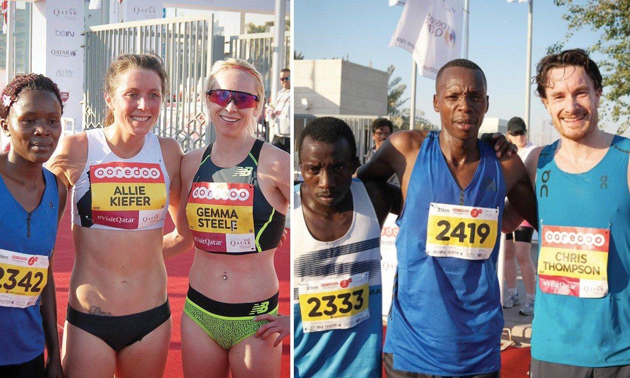 Gemma Steel, Chris Thompson and Eilish McColgan impress in Doha