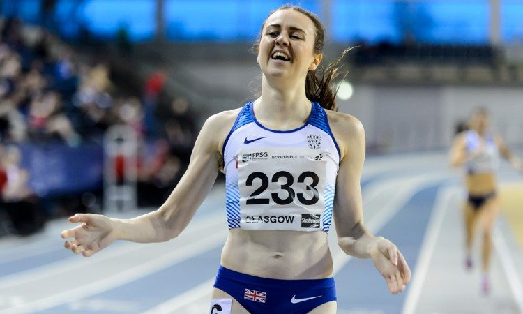 Laura Muir breaks Scottish indoor 800m record in Glasgow