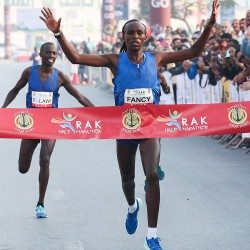 Fancy Chemutai and Bedan Karoki race to record-breaking RAK Half wins
