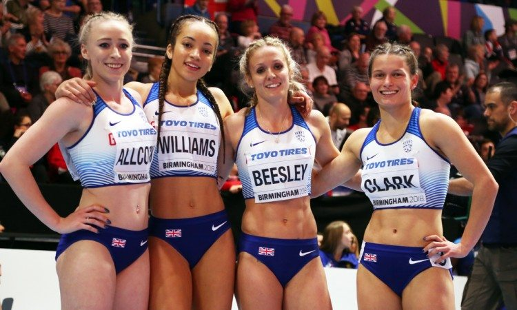 GB 4x400 world indoors by mark shearman
