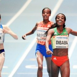 Genzebe Dibaba retains 3000m title as Laura Muir bags bronze in Birmingham