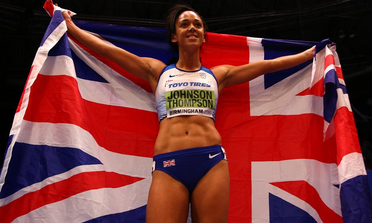 Katarina Johnson-Thompson encouraged by young fans in Birmingham