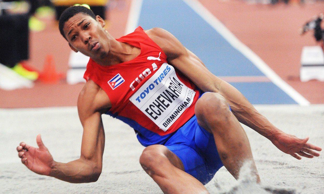 Juan Miguel Echevarría in Ostrava after soaring 8.83m in Stockholm