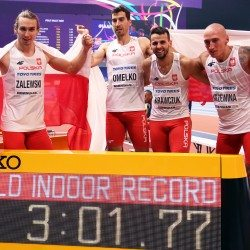 Poland smash world indoor 4x400m record