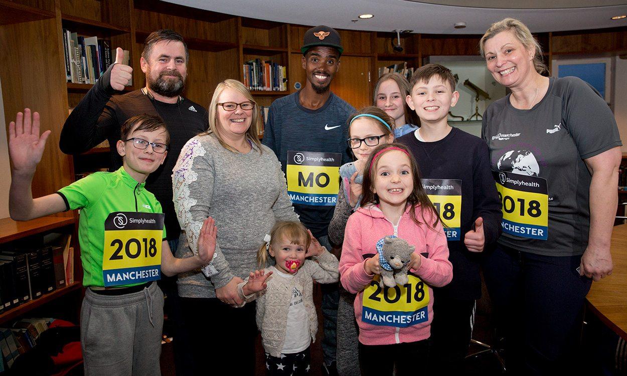 Great Manchester Run: Mo Farah meeting boosts family runners