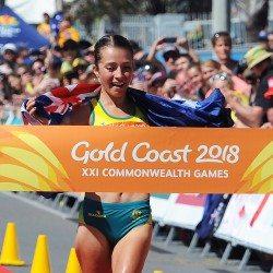 Jemima Montag completes Australian race walk double as Bethan Davies bags bronze