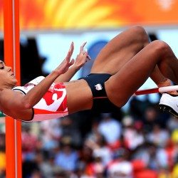 Katarina Johnson-Thompson leads Commonwealth heptathlon after two events
