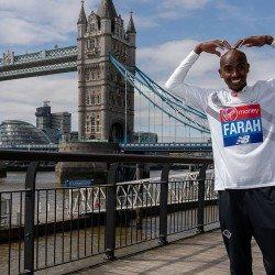 Mo Farah savouring his marathon challenge