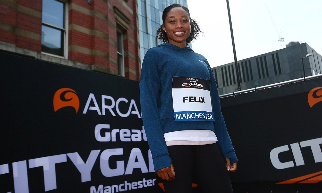 Allyson Felix ready to mix it up in Manchester