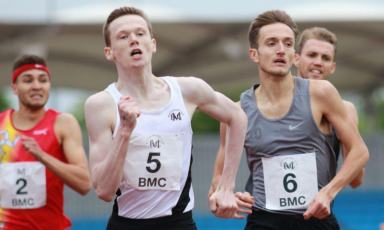 Max Burgin runs world age 15 800m best at BMC Grand Prix