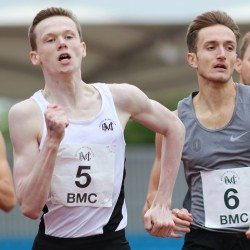 Max Burgin runs world age 15 800m best at BMC Grand Prix