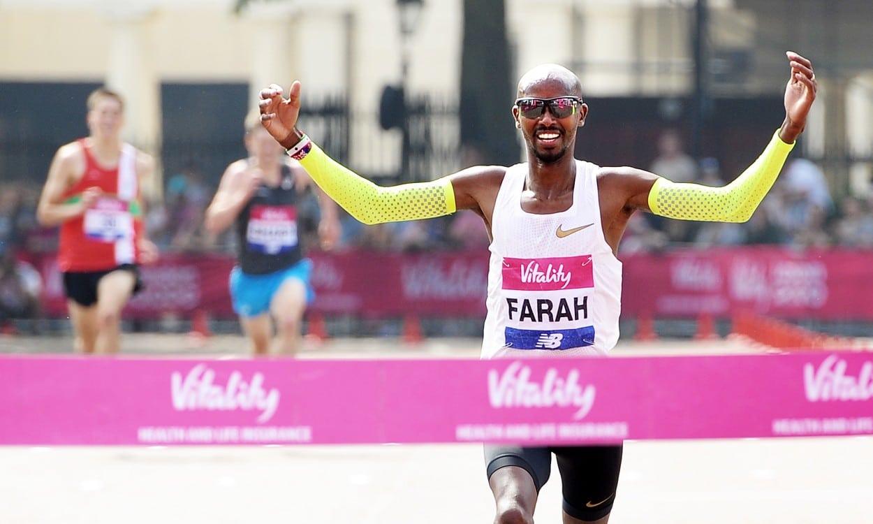 Mo Farah and Steph Twell win London 10,000