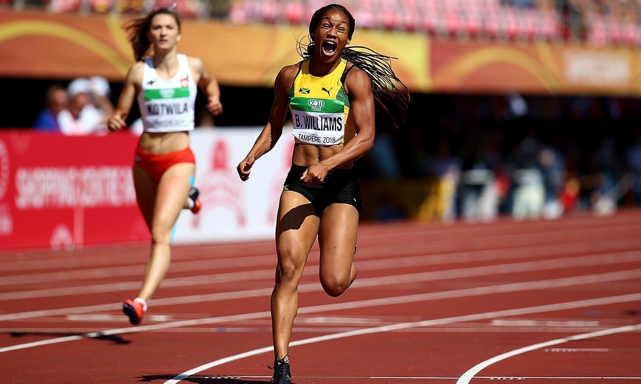 Briana Williams wins World U20 sprint double