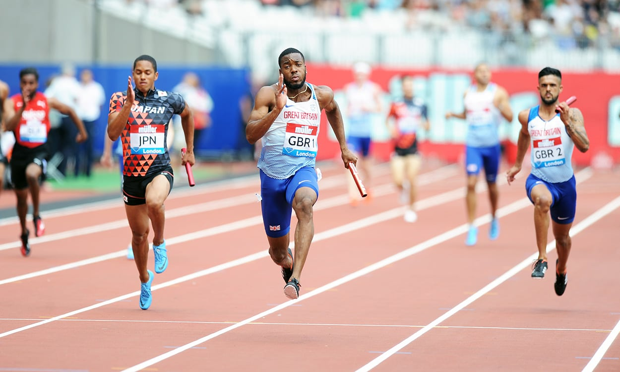 Britain's 4x100m relay men find world-leading form in London