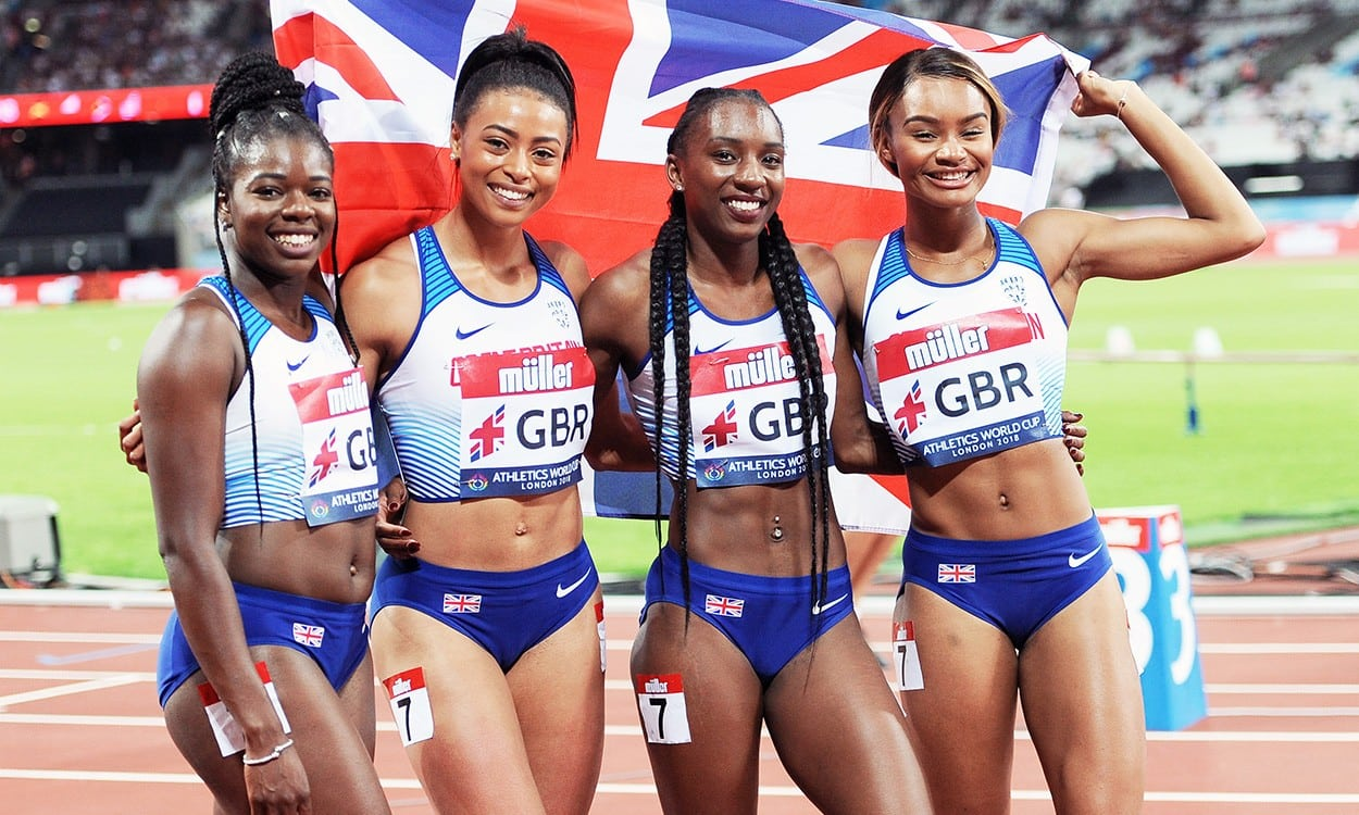Win for relay squad as GB women jumpers propel team to third in London