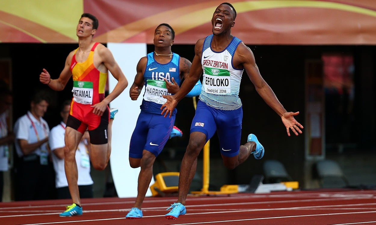 Jona Efoloko and Charlie Dobson take 200m 1-2 in Tampere
