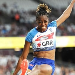 Captain Lorraine Ugen leads the way at Athletics World Cup
