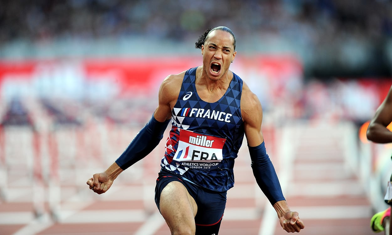 Pascal Martinot-Lagarde powers to Athletics World Cup win