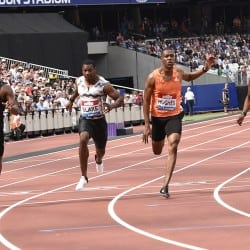 Ronnie Baker pips Zharnel Hughes in London 100m