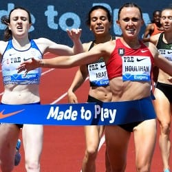 Shelby Houlihan wins 1500m from Laura Muir in Lausanne