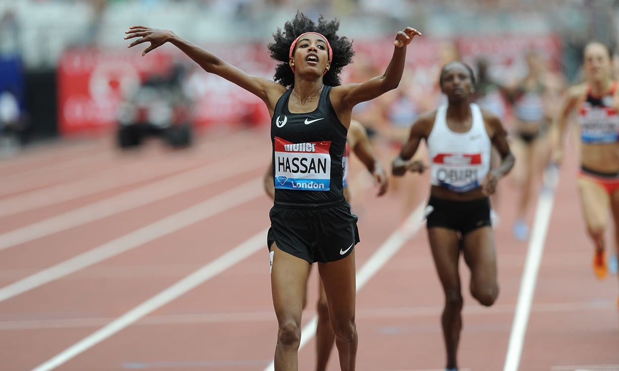 Sifan Hassan wins fast mile as Laura Muir finishes fifth in London