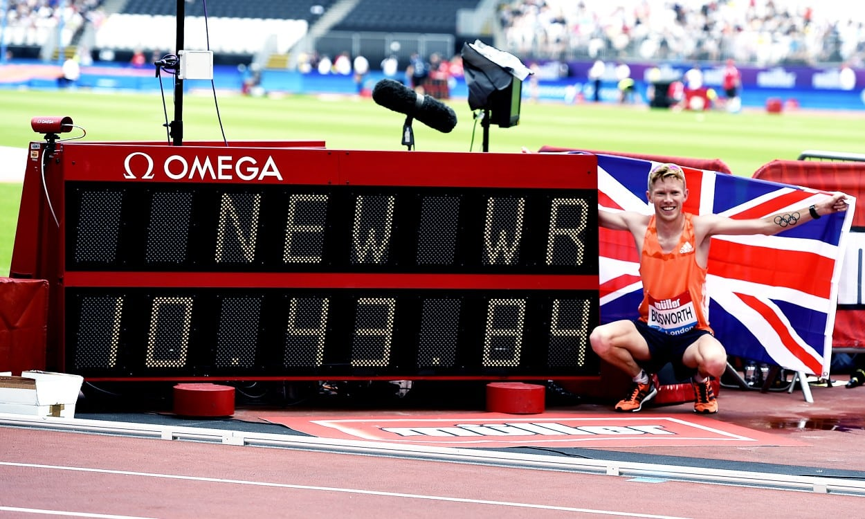 Tom Bosworth breaks world 3000m race walk record