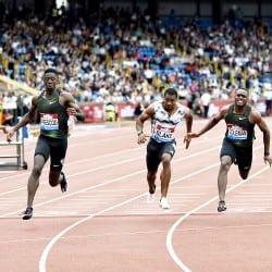 Christian Coleman pips Reece Prescod in 100m thriller